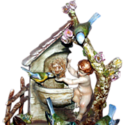 "REDUCED Borsato - ""Angel Food"" - Absolutely Precious Multi-Figural Porcelain Sculptu"