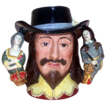 Extremely Rare - King Charles I - Royal Doulton's  First Three Handled Character Jug - Closed Ltd Edition