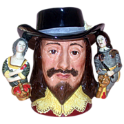 Extremely Rare - King Charles I - Royal Doulton's  First Three Handled Character Jug - Closed 