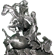 REDUCED Don Polland  (1932 - 2003) - Dramatic Pewter &quot;The Rescue&quot; -  Signed, Numbere