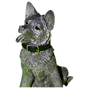 German Shepherd Puppy (Alsatian) - Antique English Silver - From Renowned British Silversmiths