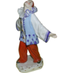 Marvelous Signed Bohemian Porcelain Figure of Pierrot, c. 1920