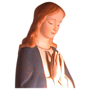 Vintage Porcelain Madonna, Serene and Peaceful