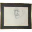 Charles Bragg - Original Self-Portrait Drawing &quot;Man No. 1&quot; - Signed
