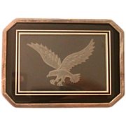 Luxurious  Reverse Carved Eagle On A Silver-Clad Box, By Ronald Stevens
