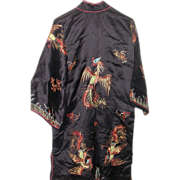 Magnificent Ceremonial Silk Robe, C. 1940, Elaborate  Adornment
