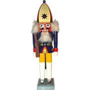 Vintage Erzgebirge Wooden Nutcracker Of Soldier