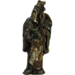 Rare Antique Chinese Family Altar Figure As Fisherman, Circa 1900