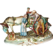 "Borsato - Multi-Figural Porcelain Sculpture - ""The Wine Vendor"""
