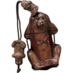 Very Unusual Antique Single Case Wood Inro &quot;Three Wise Monkeys&quot; - Circa 1900