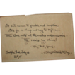 Signed Hand-Written Poem In Dialect By Well-Listed American Author James Whitcomb Riley (October 1849 � July 1916) dated July 18,1895