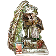 "REDUCED Borsato - ""Shelter"" - Touching  Multi-Figural Porcelain Sculpture From The M"