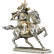 Silvered And Gilt Iron Samurai Equestrian, Vintage