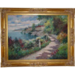 "Original Oil On Canvas - ""Hotel Sirena"" by Eddie Wong 'W. Eddie', Signed"