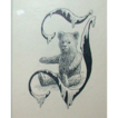 Original Drawing - Poul Steffensen - Teddy Bear In A Stylized &quot;J&quot; - Circa 1917