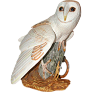 REDUCED Franklin Mint - &quot;The Barn Owl&quot; by George McMonigle - Fine Hand-Painted Porce