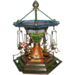 REDUCED `Bergmann Vienna Bronze Music Box Merry-Go-Round With Six Frogs, MUSEUM QUALITY