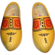 LARRY HAGMAN'S ESTATE - Vintage Wooden Clogs From Holland