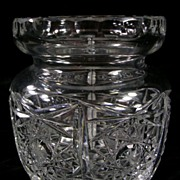 SALE Vintage Pressed Glass Jar