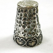 SALE Vintage Sterling Silver Thimble