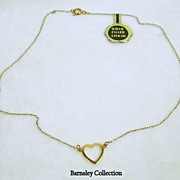 SALE Vintage Gold Filled Heart Necklace