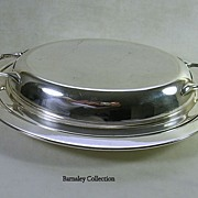 SALE Victorian Silver Plated Serving Dish and Cover � c. 1886 � 1893