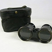 SALE Eduardo Augusto Pereira's Victorian Cased Leather and Brass Binoculars � c. 1900s