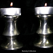 SALE Vintage Collectible Set of Pewter Candleholders