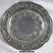 SALE Vintage Pewter Serving Plate