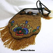 SALE Edwardian Beaded Drawstring Evening Purse