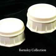 SALE Art Deco Pair of Plastic Trinket Boxes c. 1930