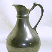 SALE Made in Holland Vintage Dutch Pewter Jug