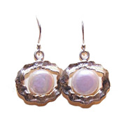 Lovely STERLING SILVER & Freshwater Pearl Drop Earrings!
