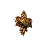 Vintage Gold Filled Fleur de Lis Lapel Pin