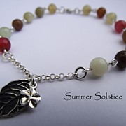 SOLD Jasper Sterling Silver Charm Dangle Bracelet
