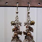 Swarovski Crystal Cluster Sterling Silver Earrings