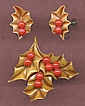 Festive 1940s Celluloid HOLLY & BERRY Christmas Set-BOOK Set