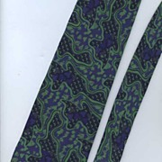 Handsome '80s FENDI-Roma Italian Silk Abstract Print Tie