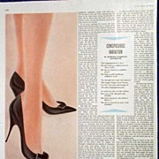 Sexy AMERICAN GIRL 'De Luxe' Needle Toe Pump Shoe Ad-10/59 LHJournal