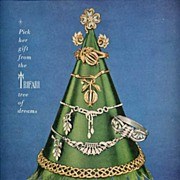 1950 'Tree of Dreams' JEWELS BY TRIFARI Christmas Ad-LHJournal, Full Page