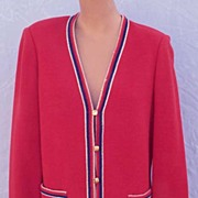 "Sophisticated 1960s BUTTE KNIT Fine Wool Sweater Jacket-36"" Bust"