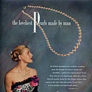 Stunning MARVELLA 'The Loveliest Pearls Made By Man' Jewelry Ad-Gown by Patullo Jo Copeland!