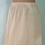 "Cutest TRENDY Vintage Striped CHAUS Knit Skirt-Add Tights, Will Travel! 26""-28"" Wais"