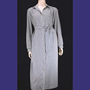 Stunning Silk Vintage I. MAGNIN Houndstooth Check Shirtwaist Dress