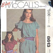 McCall's #2123 BROOKE SHIELDS Signature Boho Tunic or Dress~Size 10/12 (S)-Complete, 1983