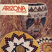 Arizona Highways 7/75~SPECIAL EDITION: American Indian Basketry, E. CURTIS Photographs