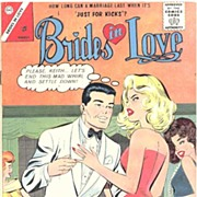 BRIDES IN LOVE Romance Comic Book No. 37, August, 1967~'Just For Kicks'~Charlton, VFN-NM