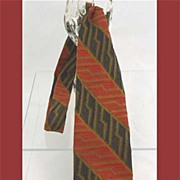 Wild Woven Abstract '60s Diagonal Stripe Necktie~Electrifying!
