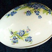Large Luminous LIMOGES-France Hyacinth Flowers Egg Trinket Box