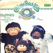Butterick #6984 Cabbage Patch Kids Fabulous Fur Coats & Hat Pattern~UNCUT, 1985